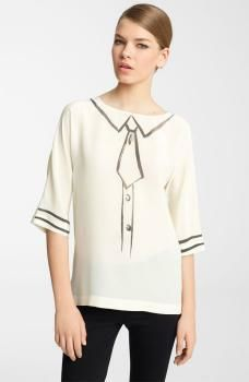 Moschino Cheap & Chic Trompe l'Oeil Blouse2