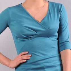 Asymetryczne bluzki z marszczeniami.  Model 0835