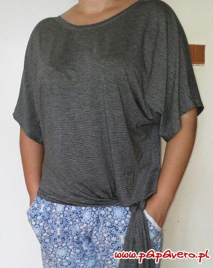 Proste letnie bluzki z wiązaniami. Model 0891