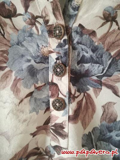 kwiatowa koszula - listwa guzikowa