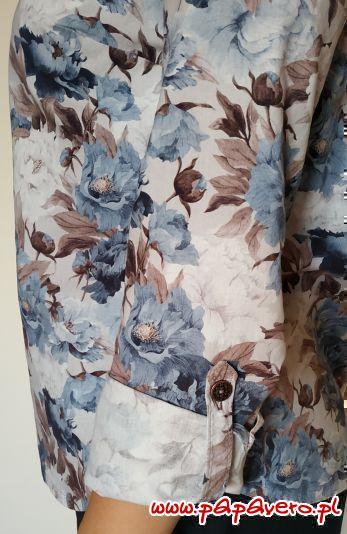 kwiatowa koszula - rękaw