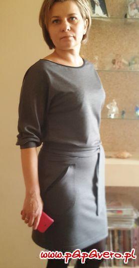 Sukienka z kieszeniami model 656