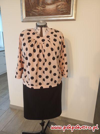 Bluzka z raglanem model 0176 roz.50XYZ Lniana spódnica model 0643