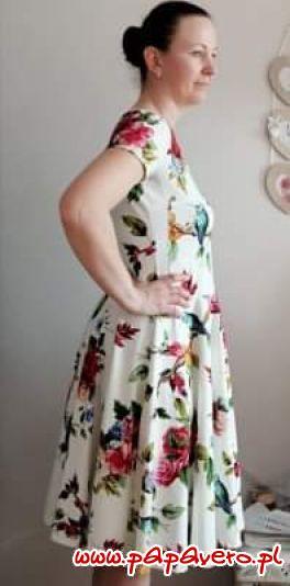 Dzianinowy zestaw sukienkowy. Model 0842